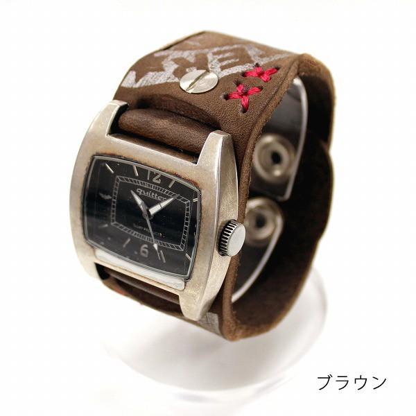 時計 腕時計 レザー ユニセックス ハンドメイド ギフト 栃木レザー 日本製 レザーマルチボーダーパッチウォッチ|yandk|03