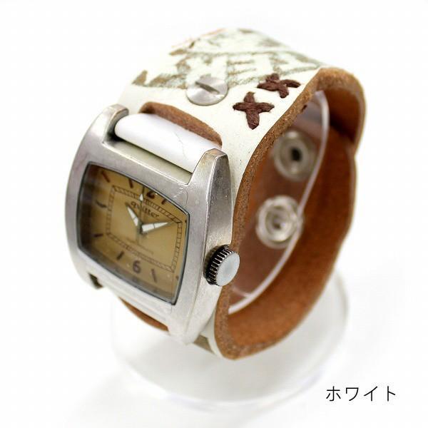 時計 腕時計 レザー ユニセックス ハンドメイド ギフト 栃木レザー 日本製 レザーマルチボーダーパッチウォッチ|yandk|05