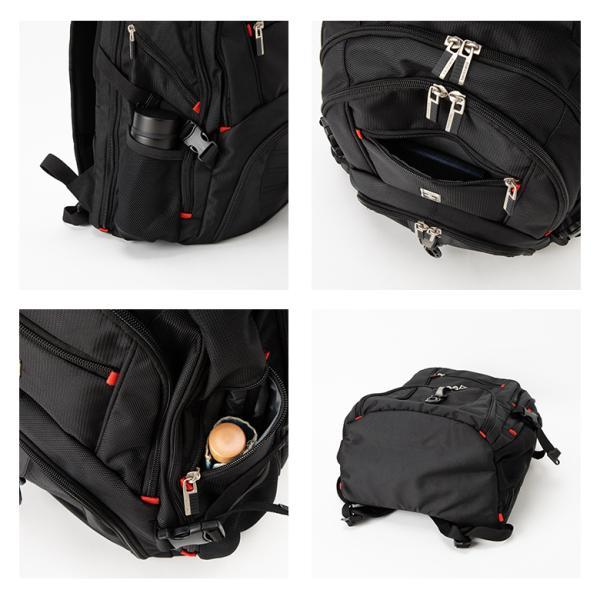 SWISSWIN バックパック リュックサック ブランド ビジネスリュック メンズ 旅行用バック 鞄 サイドポケット 通勤 通学 B4 ポケット 多い 多機能 撥水 ギフト|yandk|09
