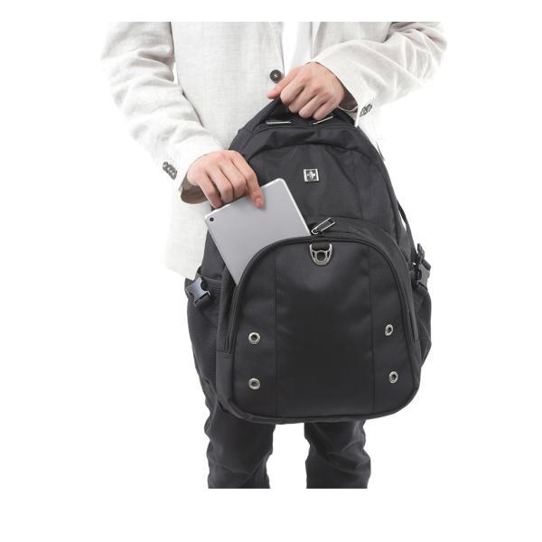 SWISSWIN バックパック リュックサック ブランド かばん カバン 鞄 ポケット 通勤 通学 大容量 軽量 撥水 出張 登山 ビジネス 学生 旅行用リュック ギフト|yandk|07