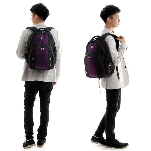 SWISSWIN バックパック リュックサック ブランド かばん カバン 鞄 ポケット 通勤 通学 大容量 軽量 撥水 出張 登山 ビジネス 学生 旅行用リュック ギフト|yandk|10