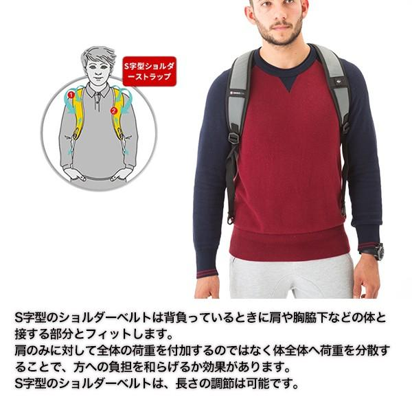 SWISSWIN バックパック リュック リュックサック 鞄 ブランド メンズ レディース 通勤用 通学用 大容量 サイドポケット 旅行用バック 撥水素材 マザーバッグ|yandk|08