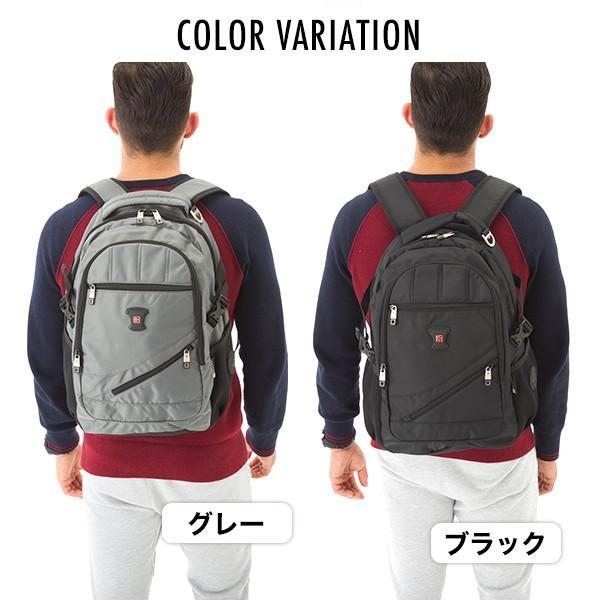 SWISSWIN バックパック リュック リュックサック 鞄 ブランド メンズ レディース 通勤用 通学用 大容量 サイドポケット 旅行用バック 撥水素材 マザーバッグ|yandk|09