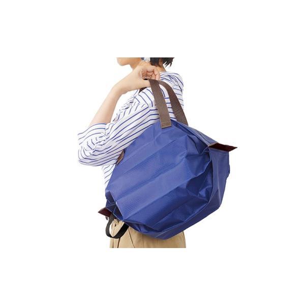 Shupatto シュパット 保冷バッグ Mサイズ<ストライプ>S-445S エコバッグ MARNA マーナ クーラーバッグ 水色 ブルー yasac 08