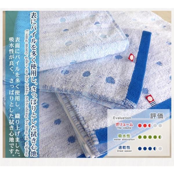 今治タオル フェイスタオル 5枚セット 今治さわやかフェイスタオル  水玉(ブルーグラデーション)  綿100% (送料無料)|yasashii-kurashi|03