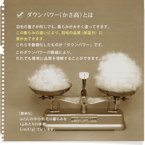 羽毛布団 シングル 掛け布団 日本製 収納 脱臭 防カビ 殺菌 ロイヤルゴールドラベル ダウン率90% シンプル ダウンパワー 400以上 2年間保証|yasashii-kurashi|15
