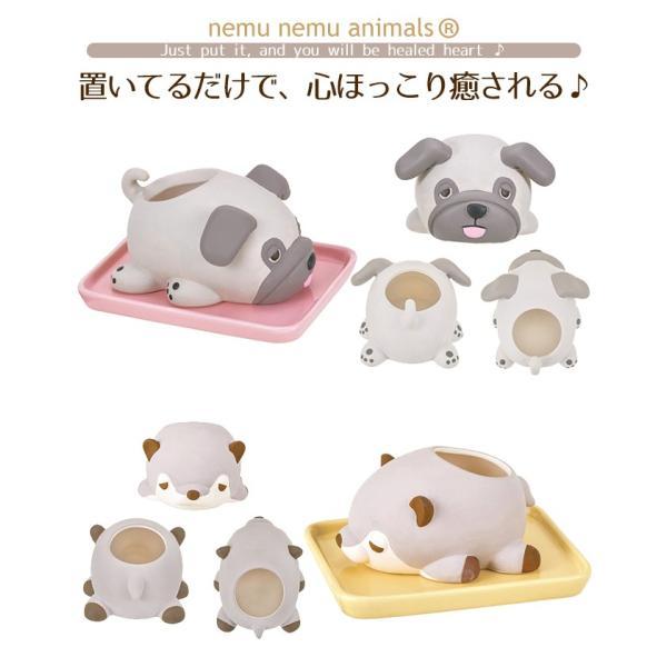 加湿器 おしゃれ 気化式 手入れ簡単 寝室 陶器 素焼き かわいい 動物 ねむねむアニマルズ|yasashii-kurashi|05