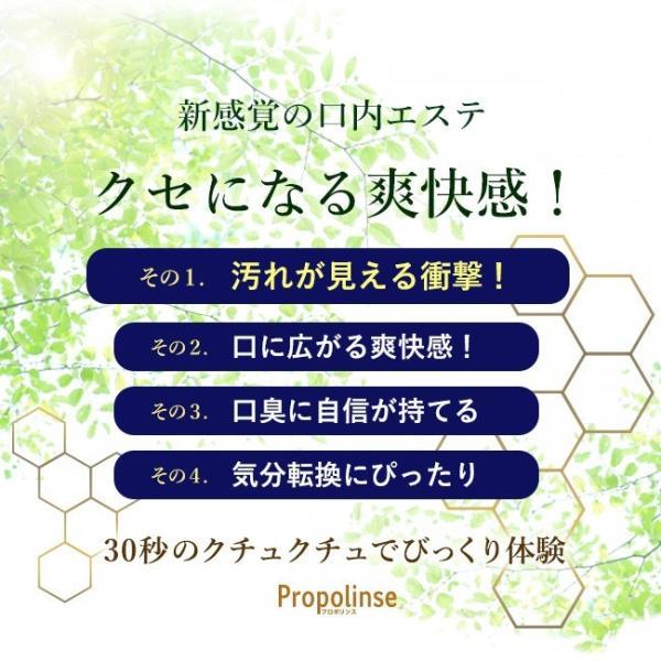 マウスウォッシュ プロポリンス 携帯用 タンパク質除去  小分け 使い切り パウチ 50個セット|yasashii-kurashi|06