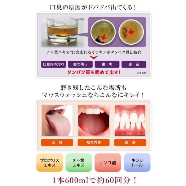 プロポリンス マウスウォッシュ 600ml 4本 洗口液 口臭予防 口臭対策 口内洗浄 口臭ケア|yasashii-kurashi|05