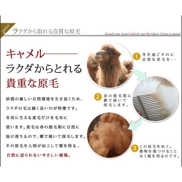 肌掛け布団 シングル 高級 キャメル肌掛け布団 キャメル100% 無臭 ソーラタッチ|yasashii-kurashi|07