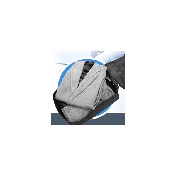 コンパクトガーメントケース ( ガーメントバック 出張 シワ コンパクト スーツ 折りたたみ JAL ワンツーフィニッシュハンガーケース 送料無料 )