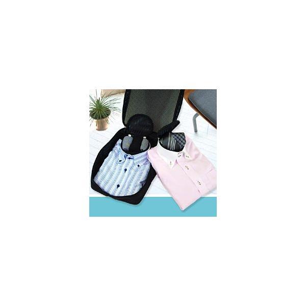 ワイシャツケース ネックポーチ2個付き (ガーメントケース ガーメントバック 出張 旅行 シワ 持ち運び コンパクト スーツ 折りたたみ 出張 ハンガーケース)