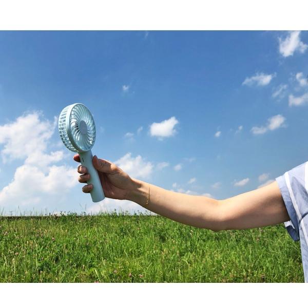送料無料 携帯扇風機 ハンディファン 携帯 扇風機 充電式 電池式 卓上 扇風機 熱中症対策 ベビーカー アウトドア フェス 小型 軽量|yasuizemart|12