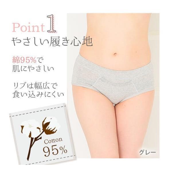 サニタリーショーツ ポケット付き 生理用ショーツ 防水 大きいサイズ ジュニア用 3枚 yasuizemart 02
