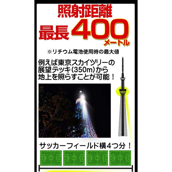 T6 高性能 2個組 LEDハンディライト 懐中電灯 最大400m先まで照射 高性能懐中電灯|yasuizemart|03