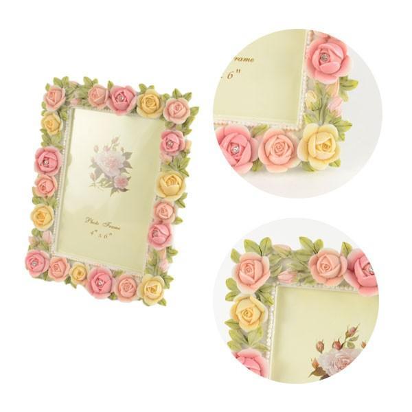 フォトフレーム 写真立て おしゃれ 花柄 薔薇雑貨 ギフト LCD1945|yasunaga|03