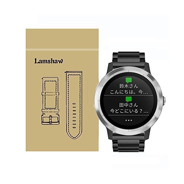 Lamshaw バンド 対応 Garmin vivoactive 3, ステンレス メタル 高品質 ベルト 交換バンド 対応 ガーミン スマートウォッ|yasyabou