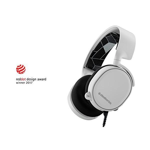【国内正規品】密閉型 ゲーミングヘッドセット SteelSeries Arctis 3 White 61434|yasyabou|10