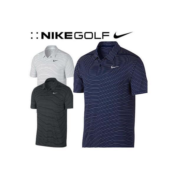 NIKE GOLF [ナイキ ゴルフ] DRI-FIT エッセンシャル ストライプ S/S ゴルフポロ AJ5483|yatogolf