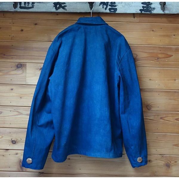 藍染と泥と墨で染めたソフトデニム生地のメンズジャケット|yatsugatakestyle|02
