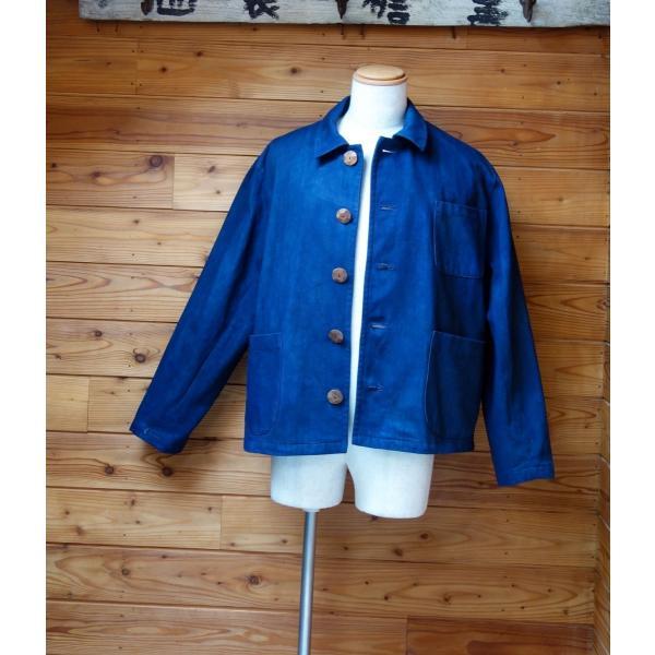 藍染と泥と墨で染めたソフトデニム生地のメンズジャケット|yatsugatakestyle|03
