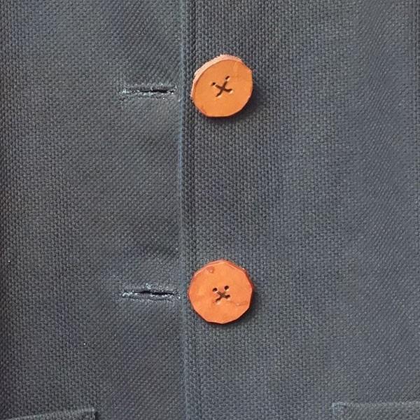 大きなボタン 藍染 柿渋染 レディース 柔道着 刺し子のジャケット yatsugatakestyle 04