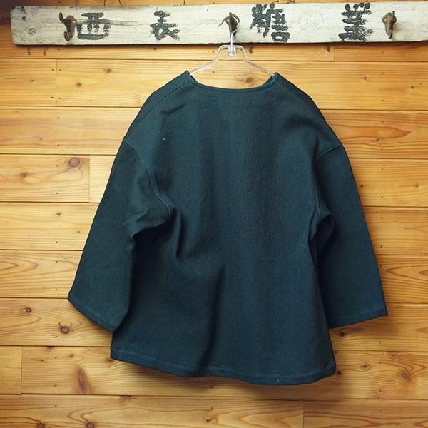 大きなボタン 藍染 柿渋染 レディース 柔道着 刺し子のジャケット yatsugatakestyle 06