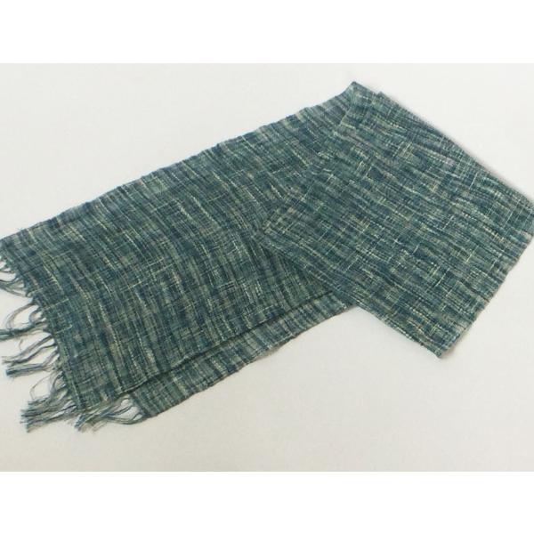 リネンと綿のスラブ糸の絣風藍染糸|yatsugatakestyle|05