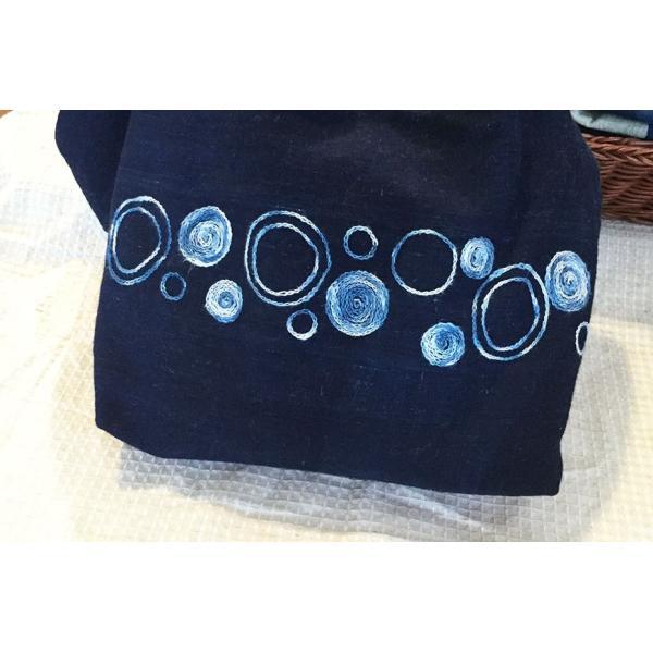 リネンと綿のスラブ糸の絣風藍染糸|yatsugatakestyle|06