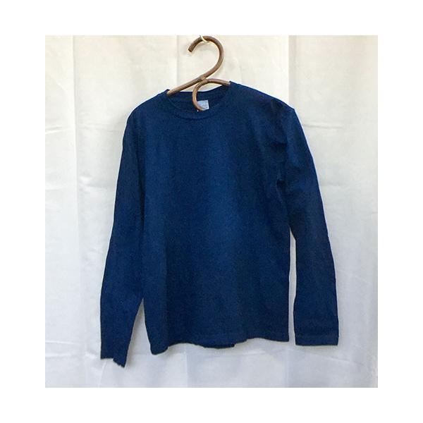 藍染手染め 長袖Tシャツ・メンズにもレディースにも|yatsugatakestyle