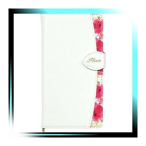 ホワイト/マルチタイプ Natural Design FLEUR手帳型 マルチサイ|yaya-ayy14