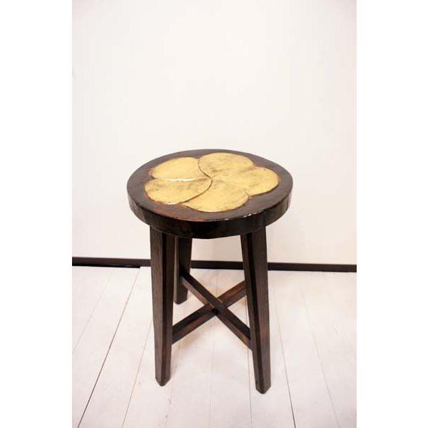 アジアン家具 (アジアン エスニック) スツール 木製 チェア イス 子供 椅子 花台 バリ島のお花モチーフ ウッドスツール|yayapapus-y|04