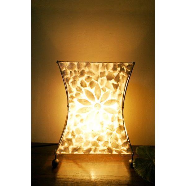 間接照明 スタンドライト ♪シェルとバンブーのシルエットランプ(S)♪ アジアン照明 バリ おしゃれ フロアスタンド エスニック  ギフト|yayapapus-y|02