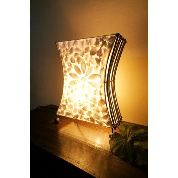 間接照明 スタンドライト ♪シェルとバンブーのシルエットランプ(S)♪ アジアン照明 バリ おしゃれ フロアスタンド エスニック  ギフト|yayapapus-y|05