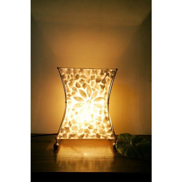 間接照明 スタンドライト ♪シェルとバンブーのシルエットランプ(S)♪ アジアン照明 バリ おしゃれ フロアスタンド エスニック  ギフト|yayapapus-y|06