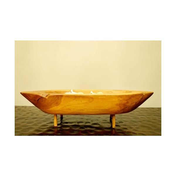 アジアン雑貨 バリ ♪古木チーク材 ナチュラルトレイ(ボート型)♪ 小物入れ トレイ 花器 フラワーベース 木製 エスニック|yayapapus-y|03