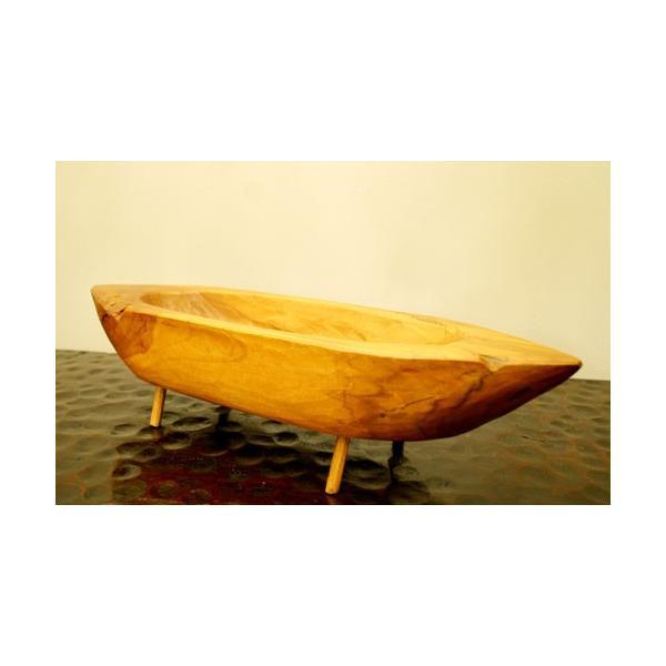 アジアン雑貨 バリ ♪古木チーク材 ナチュラルトレイ(ボート型)♪ 小物入れ トレイ 花器 フラワーベース 木製 エスニック|yayapapus-y|04