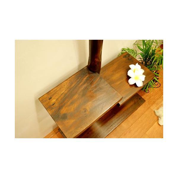 アジアン家具 バリ ♪AR3段テーブルラック(ダークブラウン)♪ ラック 棚 飾り棚 収納棚 木製 チーク材 エスニック|yayapapus-y|05