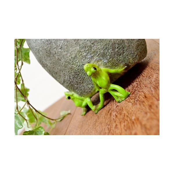 アジアン雑貨 バリ ♪石臼持上げ蛙達♪ 置物 オブジェ オーナメント プランター 花器 カエル 蛙 かえる グッズ エスニック|yayapapus-y|03