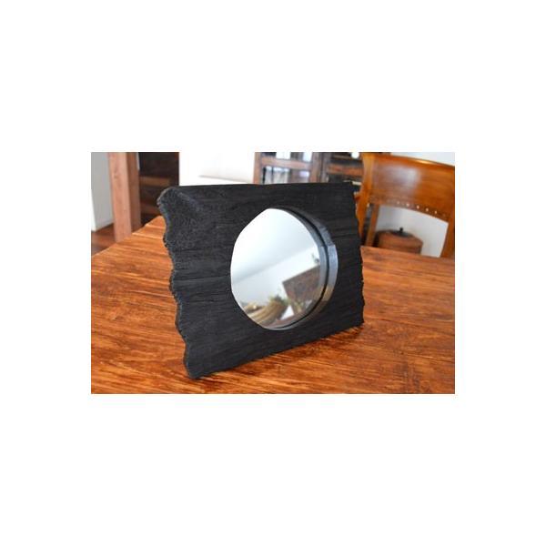 アジアン雑貨 バリ ♪古木のミラー♪ 卓上ミラー 鏡 テーブルミラー エスニック|yayapapus-y