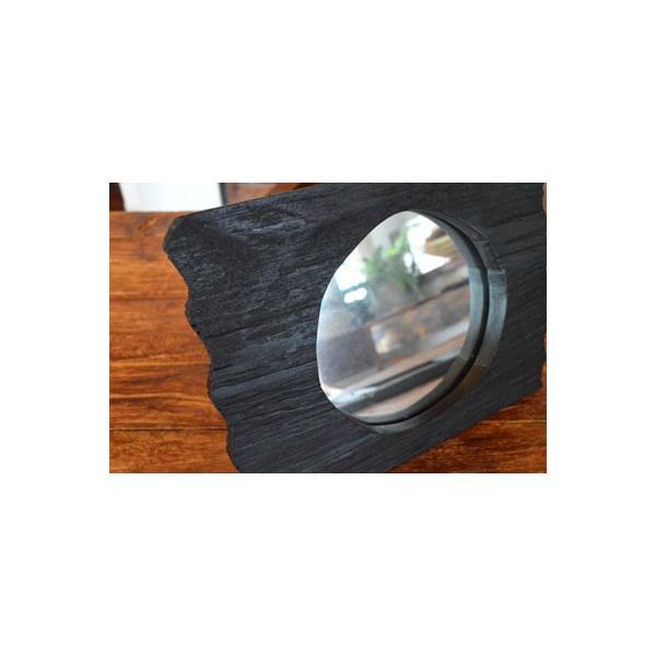 アジアン雑貨 バリ ♪古木のミラー♪ 卓上ミラー 鏡 テーブルミラー エスニック|yayapapus-y|02