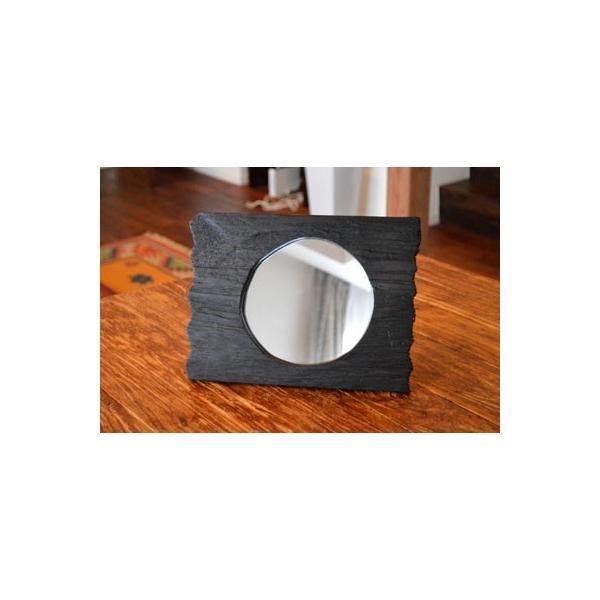 アジアン雑貨 バリ ♪古木のミラー♪ 卓上ミラー 鏡 テーブルミラー エスニック|yayapapus-y|03