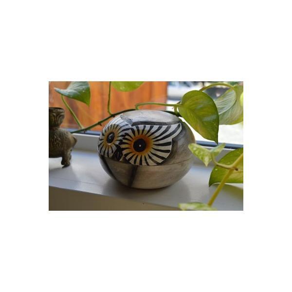 アジアン雑貨 バリ ♪フクロウの小物入れ♪ 小物入れ アクセサリーケース エスニック|yayapapus-y|05
