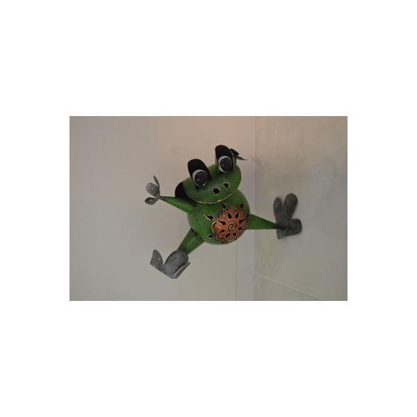 アジアン雑貨 バリ ♪アイアンのオドケカエル♪ 置物 オブジェ 小物入れ かえる アイアン エスニック|yayapapus-y|04
