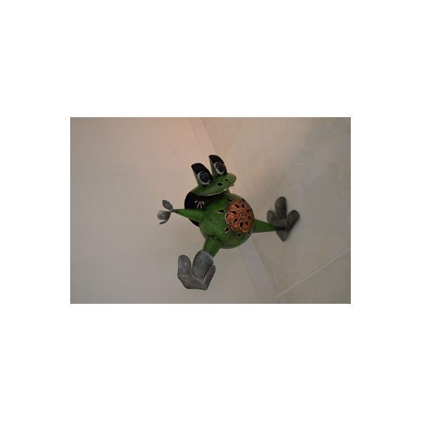 アジアン雑貨 バリ ♪アイアンのオドケカエル♪ 置物 オブジェ 小物入れ かえる アイアン エスニック|yayapapus-y|05