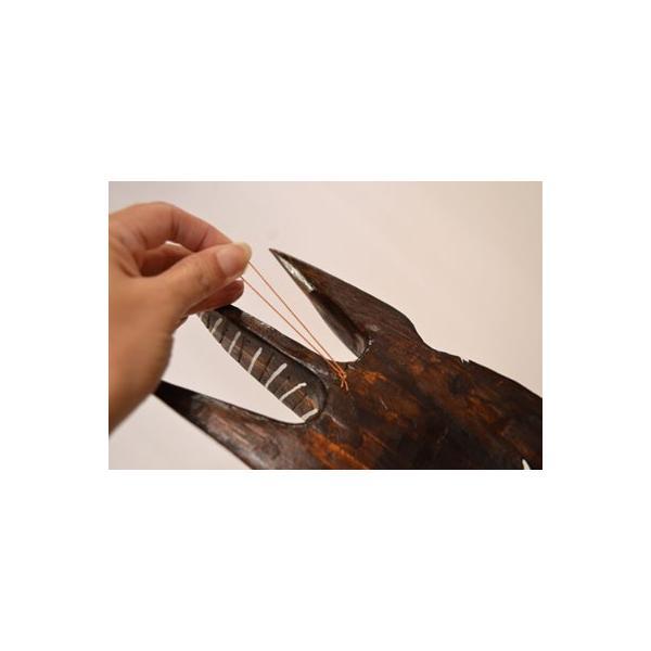 アジアン雑貨 バリ ♪ロンボクのクダマスク(フラワー)♪ 壁掛け レリーフ オブジェ 木製 エスニック|yayapapus-y|06