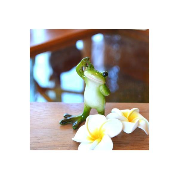 アジアン雑貨 バリ ♪OKカエル♪ 置物 オブジェ エスニック|yayapapus-y|02