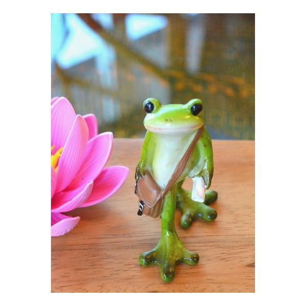 アジアン雑貨 バリ ♪ポストマンカエル♪ 置物 オブジェ エスニック|yayapapus-y