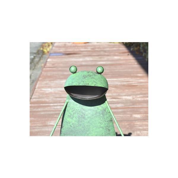 アジアン雑貨 バリ ♪ブリキガーデンカエル♪ 置物 オブジェ アイアン エスニック|yayapapus-y|04