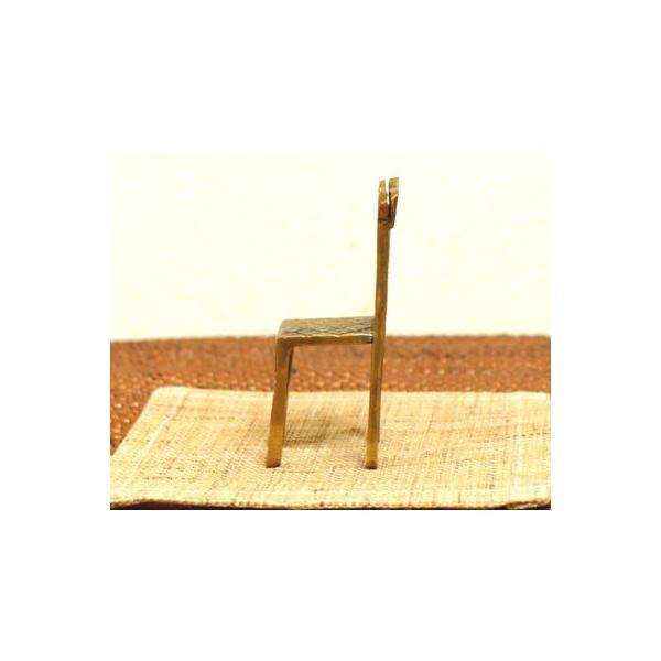 アジアン雑貨 バリ ♪真鍮 チェアーカードホルダー(角型)♪ 写真立て フォトスタンド カードクリップ エスニック|yayapapus-y|05